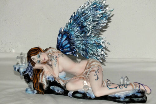 fee,elfe,40x30cm,figur,kristallfee,tattoo,flügel,gross,fairy,groß,schlafend
