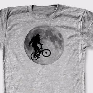Details about BIGFOOT On Bike Funny ET movie Parody T-shirt Sasquatch Yeti  Tee Shirt cd971b662