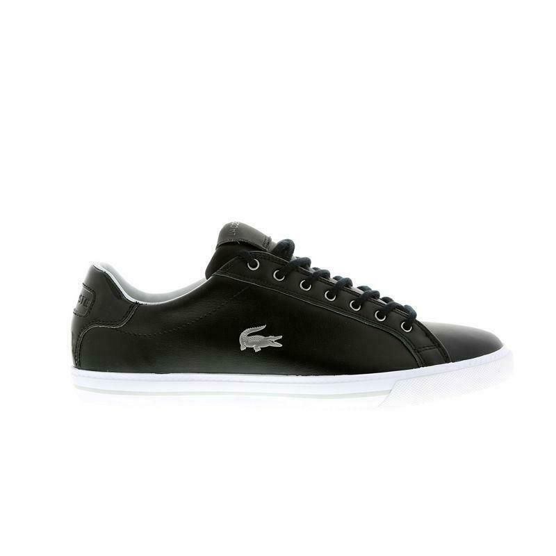 Mens LACOSTE GRAD VULC MTE SPM Black Leather Trainers 7-31SPM0079231