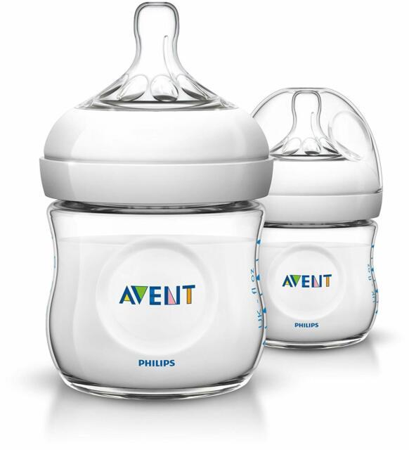 Philips Avent SCF690/27 Natural Newborn 125ml Feeding Bottle 2 Bottles
