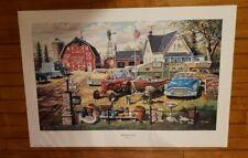 """Ken Zylla Neighborly Hands John Deere Art Print  12/"""" x 8/"""""""