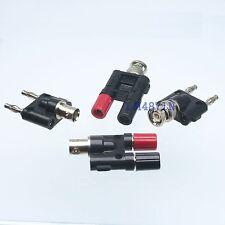 Kit Adapter 4pcs/set BNC to dual banana male female RF connector Test converter