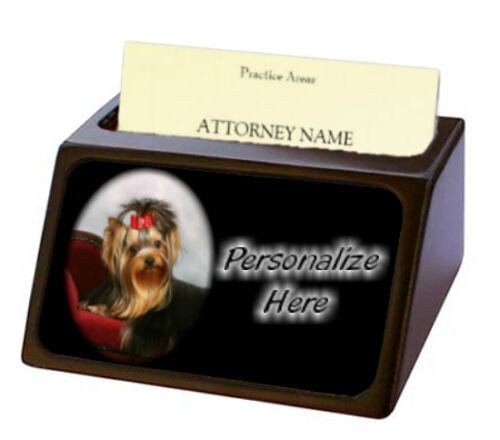 Yorkshire Terrier 3 Yorkie Pet Breed Personalized Business Card Holder