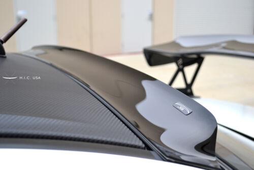 HIC USA 2008 to 2016 Lancer EVO X rear roof window visor spoiler CF Black