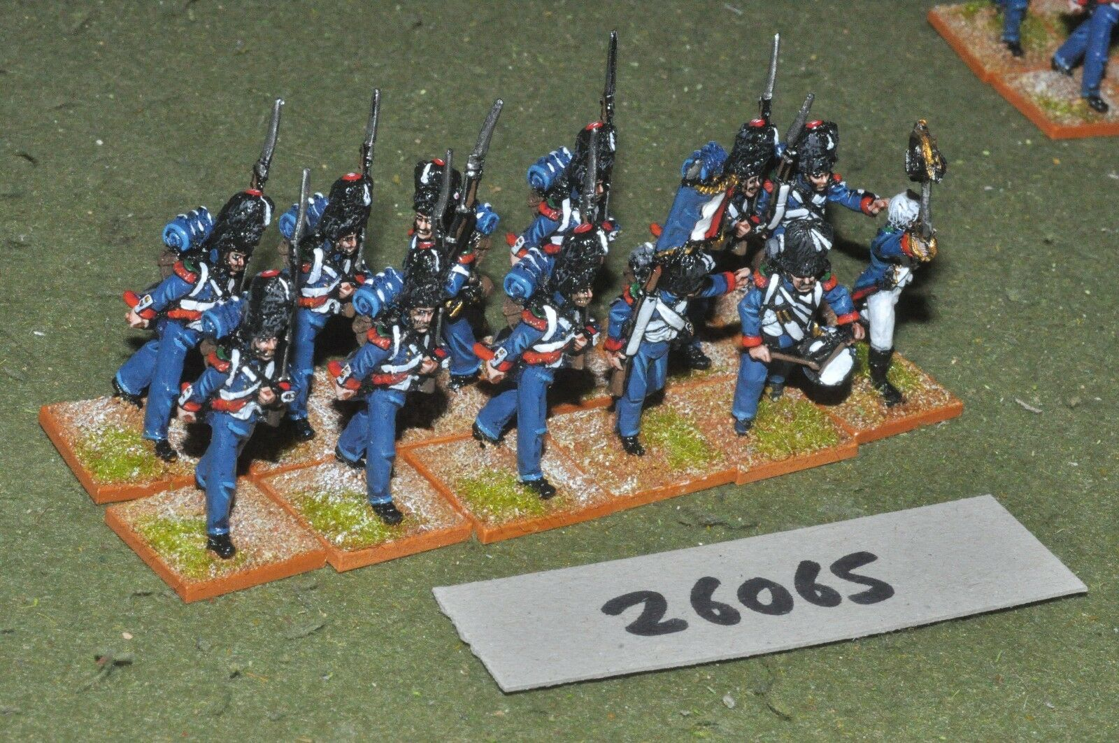 25mm napoleonic   french - light 12 figures - inf (26065)