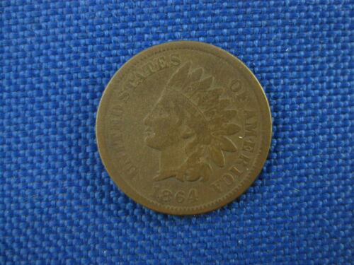 1864 U.S. INDIAN HEAD CENT COPPER PENNY COIN