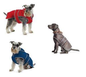 Perro-Abrigo-Muddy-Paws-Stormguard-Impermeable-Lluvia-Abrigo-De-Lana-Forrada-arnes-del-perro