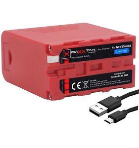 BAXXTAR NP-F970-USB Batterie compatible Sony NP-F970 7800mAh 7,2V Li-ion *NEUF*