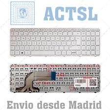 Teclado Español para PC Notebook Compaq 15-h051nf Blanco White
