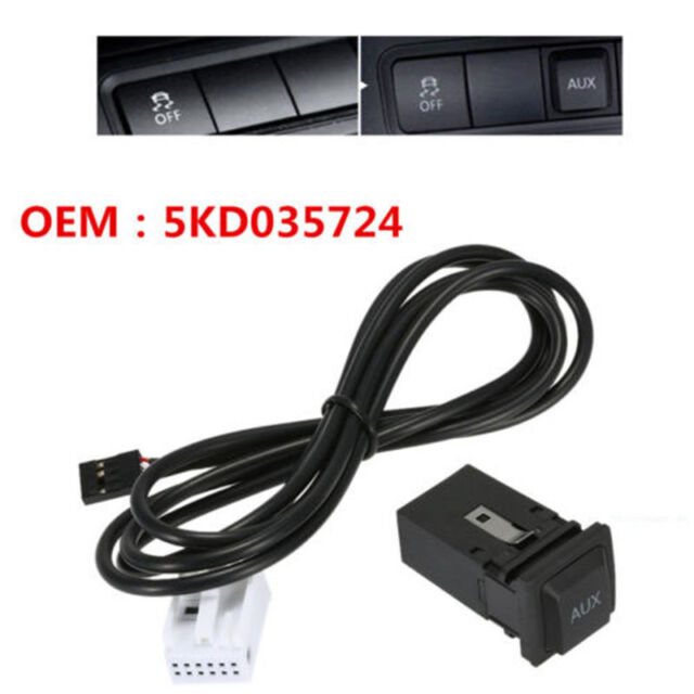 One 5KD035724 AUX USB Switch Cable For RCD510 RCD310 VW Golf/GTI/R on 2001 jetta dome light harness, goldfish harness, dual car stereo wire harness, vw ignition wiring, vw wiring kit, 68 vw wire harness, vw bus regulator wiring, vw wiring diagrams, vw beetle carburetor wiring, vw coil wiring, vw bus wiring location, figure 8 cat harness, vw engine wiring, vw headlight wiring, vw starter wiring, vw alternator wiring, besi harness,