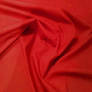 RED-100-COTTON-PLAIN-COLOR-Fabric-from-India-Material-Sewing-Craft-Yard