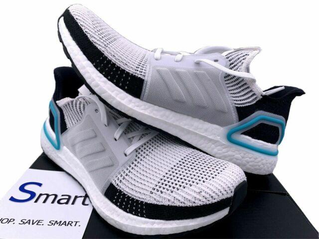 $180 NIB SIZE 8-9.5 MEN adidas ULTRA BOOST 19 Running Training Shoes Black White
