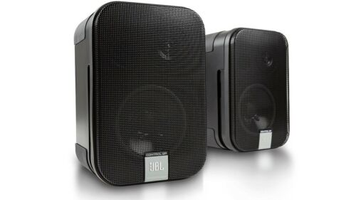 JBL Control 2P Compact Powered Conference Studio Monitor Speakers Set 110-240V