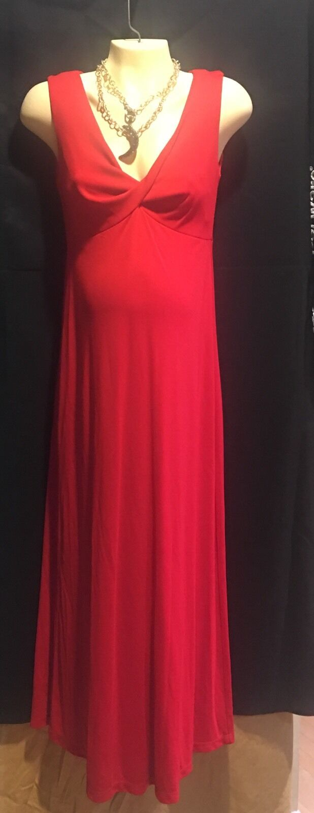 Maternity Long Gown  RED  .... NEW