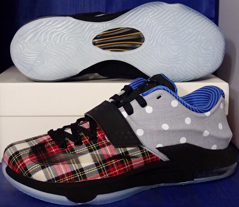 Nike KD VII Plaid 7 EXT Canvas QS Plaid VII Polka Dots Kevin Durant Homme  Chaussures de sport pour hommes et femmes 465ff6
