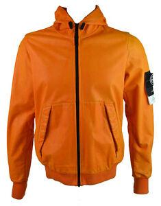 stone island men 39 s lightweight hooded leather felpa jacket. Black Bedroom Furniture Sets. Home Design Ideas