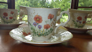 Mikasa Fine Ivory Flat Cup & Saucer Set Margaux cups and saucers set 4 sets