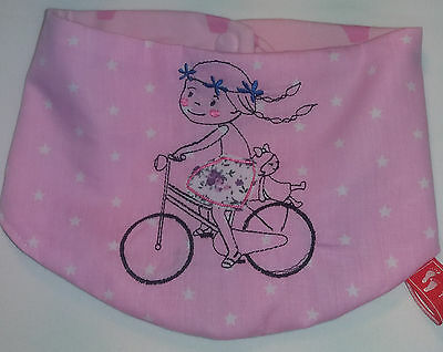 Baby-Halstuch  Kinderhalstuch Sabberschutz Sterne Baumwolle f/&f Mädchentuch Pink