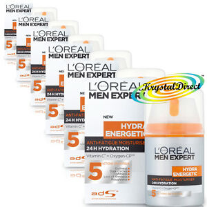 6x-Loreal-L-039-oreal-Men-Expert-Hydra-Energetic-Anti-Fatigue-Moisturiser-50ml