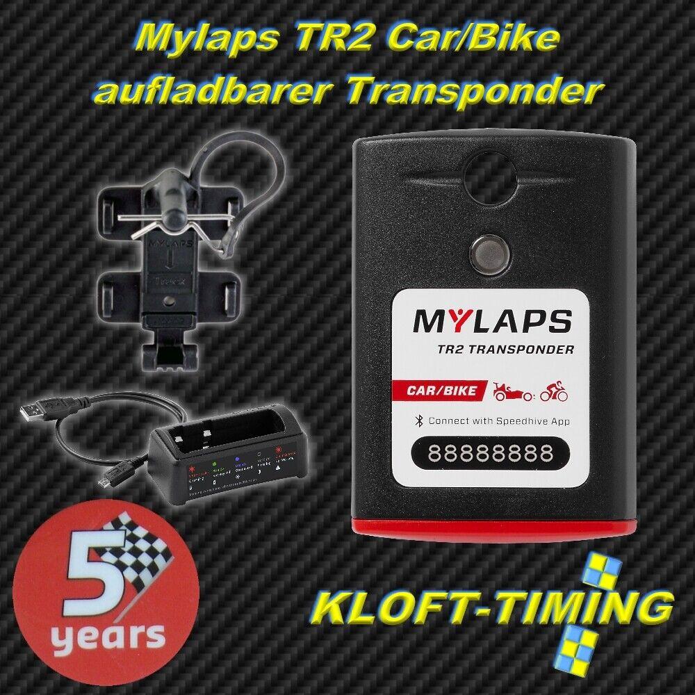 Mylaps TR2 Car Fahrrad Transponder inkl. 5 Jahren Funktion aufladbar inkl. Zubehör