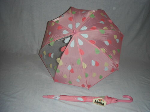 1235 Birdcage Raindrop print Shelta Childrens Umbrella