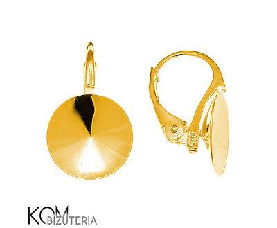 1 pair Sterling Silver leverback earring 18 mm rivoli kz 81