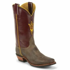 Nocona-MDASU21-Mens-Arizona-State-University-Maroon-Tan-Branded-College-Boots