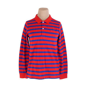 de5e92ee4e23b Image is loading Burberry-Polo-shirt-Red-Navy-Mens-Authentic-Used-