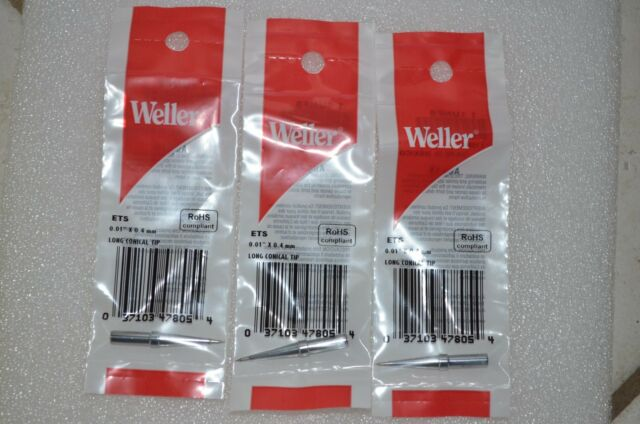 Replacement Weller 1//64 ETS Long Conical Soldering Iron Tip Stations WES51 PES51