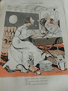 A-bordo-la-Catarina-Escritor-Mono-Monkey-Cuadro-Arte-Deco-1905