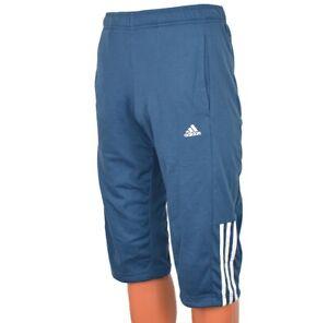 Adidas 3S Reg Comfort 3//4 Pant Shorts Herren Hose Short Bermuda Pants blau