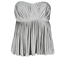 PHILLIP-LIM-3-1-PLEATED-GRAY-SILK-BUSTIER-TOP-BLOUSE-SLEEVELESS-SIZE-SMALL thumbnail 1