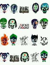 Suicide Squad Nail decals (water decals) Joker harley quinn nail