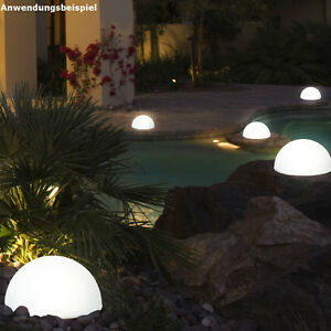 Led solar lampen 3er set leuchten garten terrasse kugelleuchte weglampe 25 cm ebay - Solarlampen garten kugel ...
