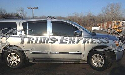 2004-2010 Infiniti QX56/2004-2014 Nissan Armada 6Pc Chrome Pillar Post