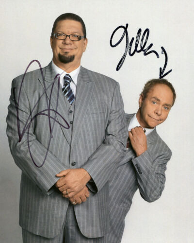 Penn /& Teller Illusionists Magicians Signed Autograph PRINT 6x4