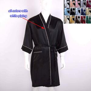 7506ed78e7f85c Das Bild wird geladen Herren-19-Momme-100-Reine-Seide-Kimono-Bademantel-