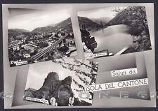 GENOVA ISOLA DEL CANTONE 07 LAGO VOBBIETTA - SALUTI Cartolina FOTOGR. viagg 1962