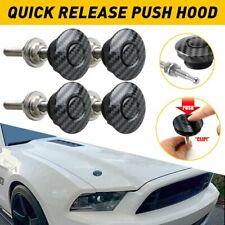 4x Push Button Quick Release Hood Car Bumper Latch Kit Bonnet Pins Lock Clip