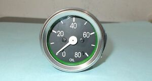 Willys-MB-Jeep-Ford-GPW-CJ-Oil-Gauge-CHROME-Bezel