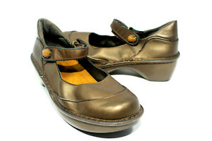NAOT-Brown-Leather-Mary-Jane-Loafers-Women-039-s-EUR-39-US-Shoe-Sz-8-5