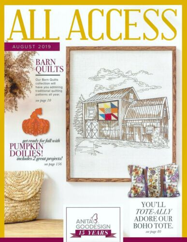 All Access AUGUST 2019 Anita Goodesign Machine Embroidery Designs CD