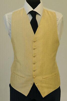 Di Larghe Vedute W1126. Da Uomo/ragazzo Avorio E Oro Swirl Gilet/vestito/costume/party/formale-mostra Il Titolo Originale