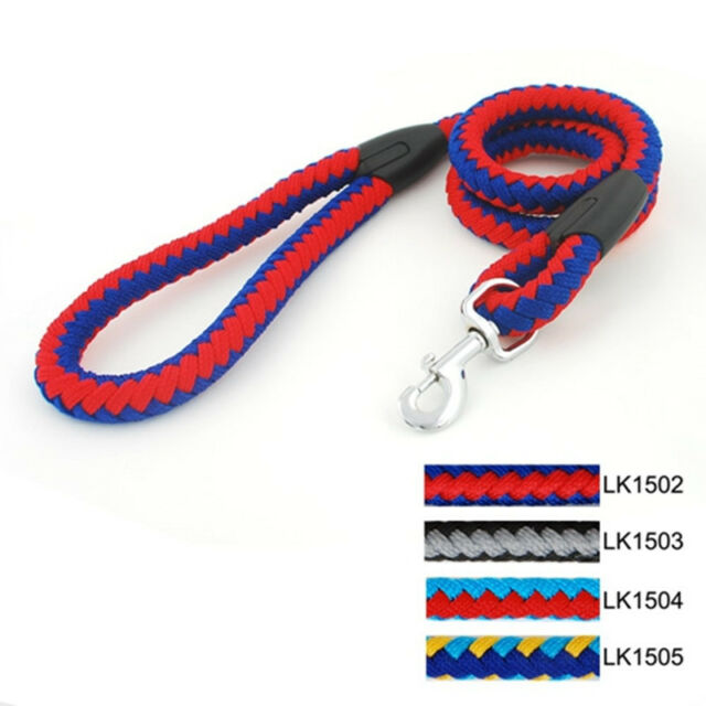 Pets Dog Rainbow Rope Training Leash Lead Strap djustable CollarP Traction G4Y7