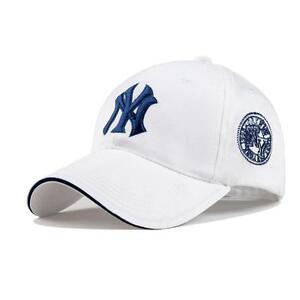 White-New-York-6-panel-Curved-Peak-Embossed-NY-Yankee-style-baseball-cap