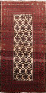 4x6 Geometric Balouch Tribal Area Rug Hand-knotted Oriental Classic Foyer Carpet