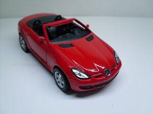 Mercedes-Benz-SLK-rot-Welly-Auto-Modell-ca-1-35-1-38-Neu-OVP