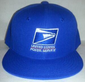 457e98aa284 Image is loading USPS-Embroidered-Baseball-Cap-ROYAL-BLUE-SNAPBACK-FLATBILL-