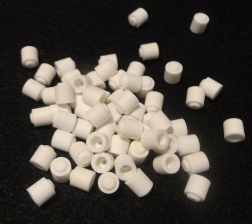 LOT OF TWENTY HIGH PURITY ALUMINA SPACER WITH DOUBLE COUNTERBORE No. 20 141