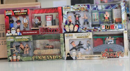 Bikers Comandos 4 Micro Icons Maga Pks 16 Figures Kung Fu /& Punks 1:32